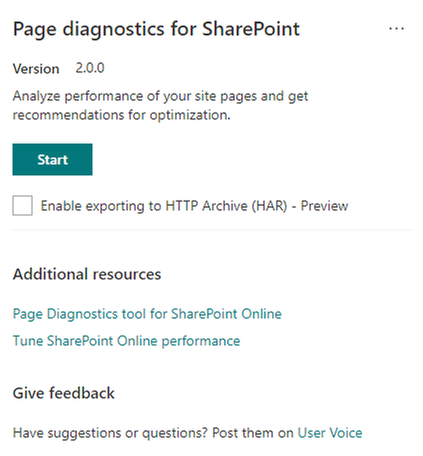 Announcing availability of an updated Page Diagnostics Tool for SharePoint
