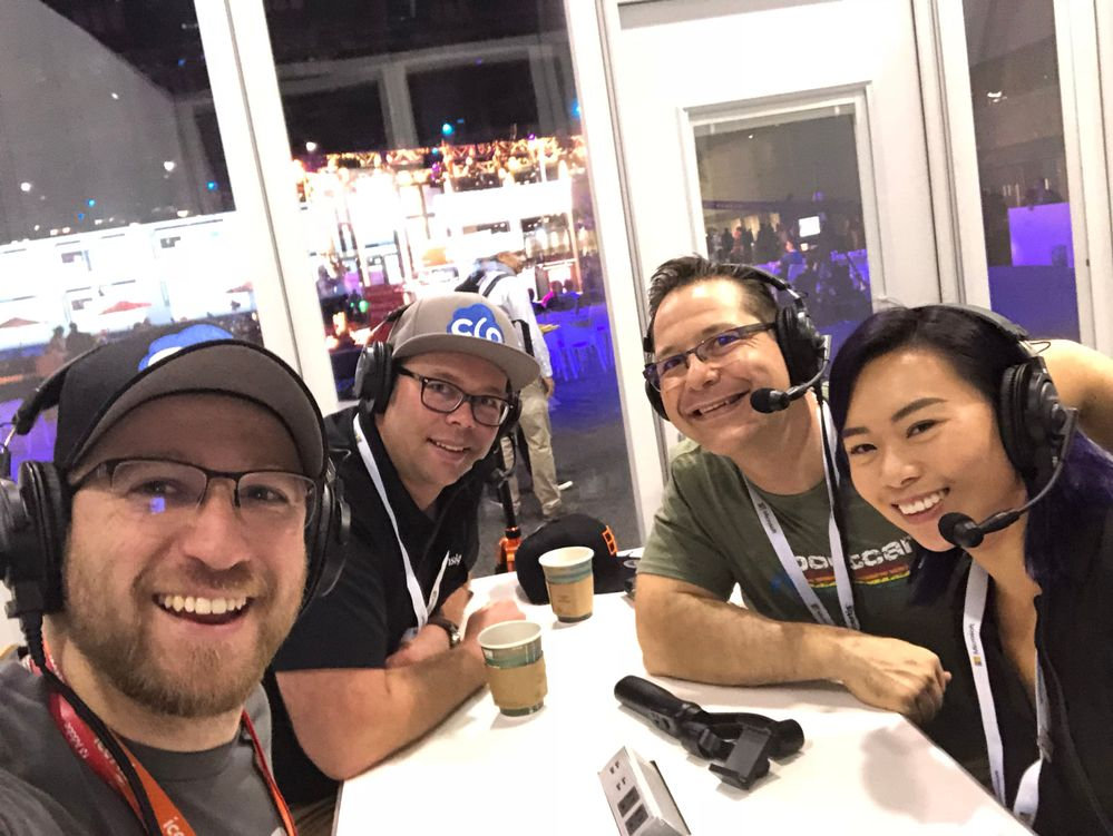 The Cloud Architects Podcast recording with @Anna Chu at the Podcast Center at Microsoft Ignite 2018.