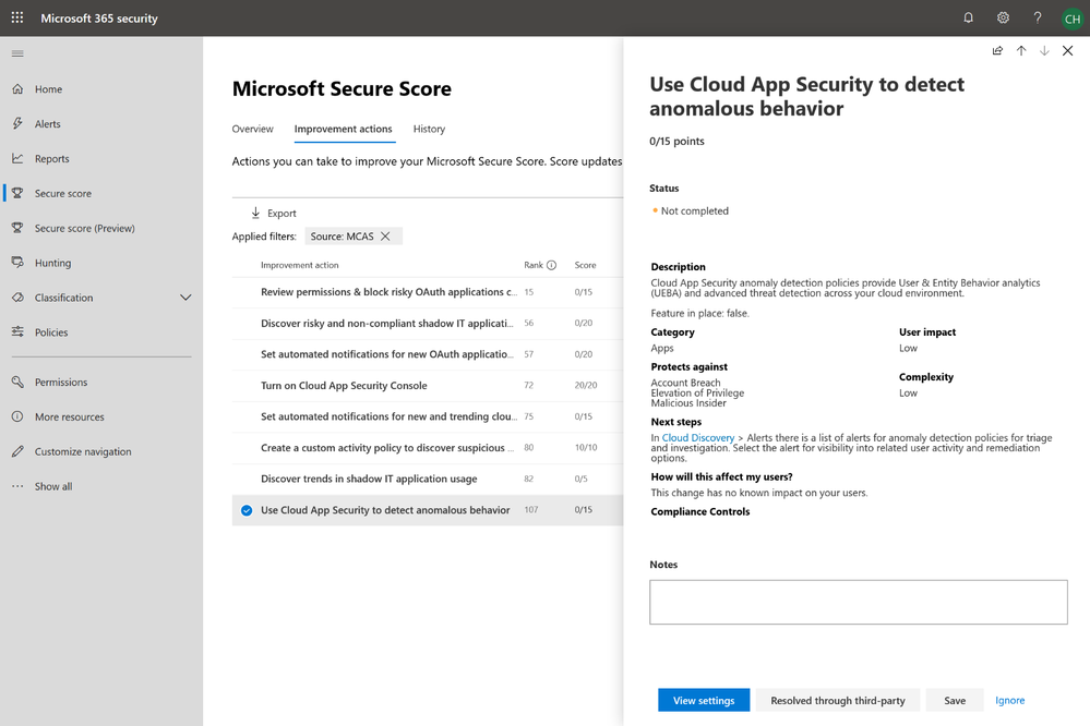 Improve your Cloud Security posture with Microsoft Secure Score