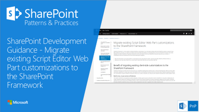 SharePoint PnP Guidance Article - Migrate existing Script