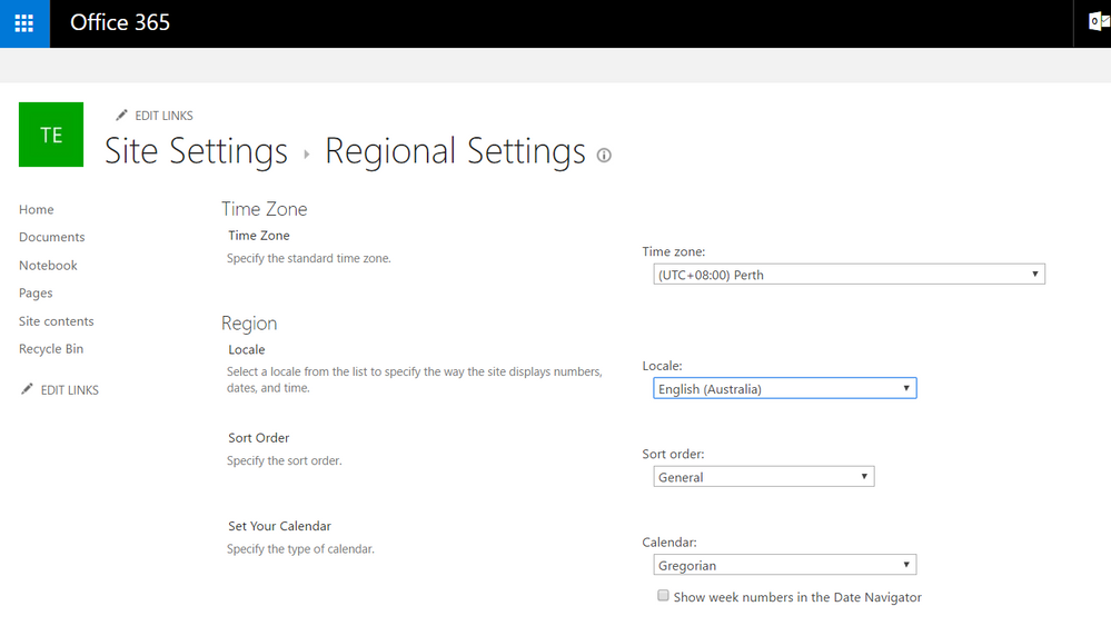 Sharepoint Site Settings.PNG
