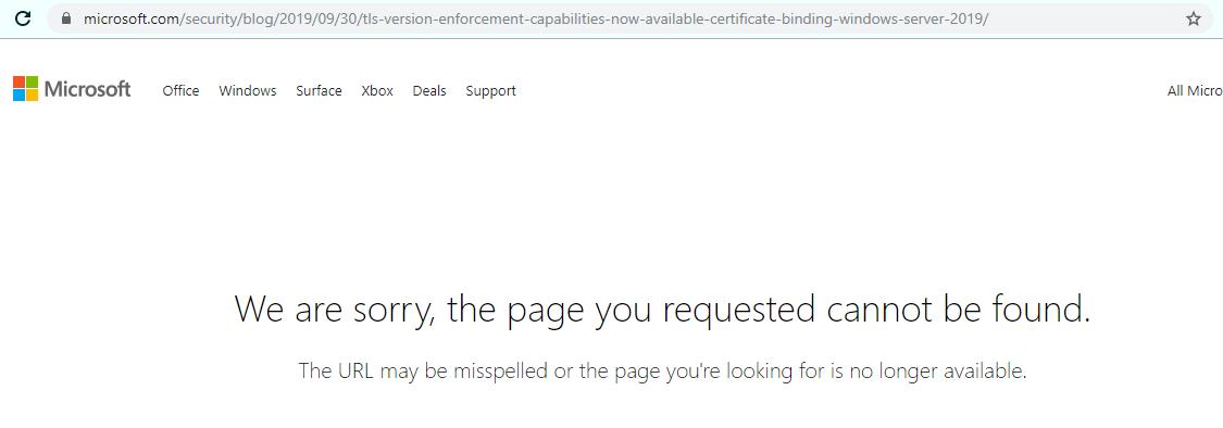 Disabling Legacy TLS