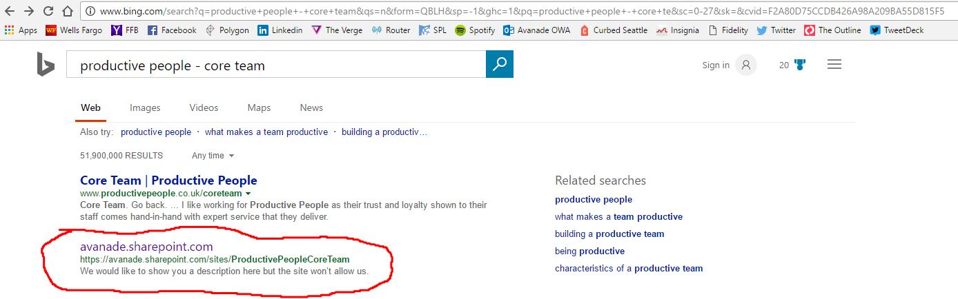 e7adb257c95e Teams site showing up in public Bing results - Microsoft Tech Community -  63834