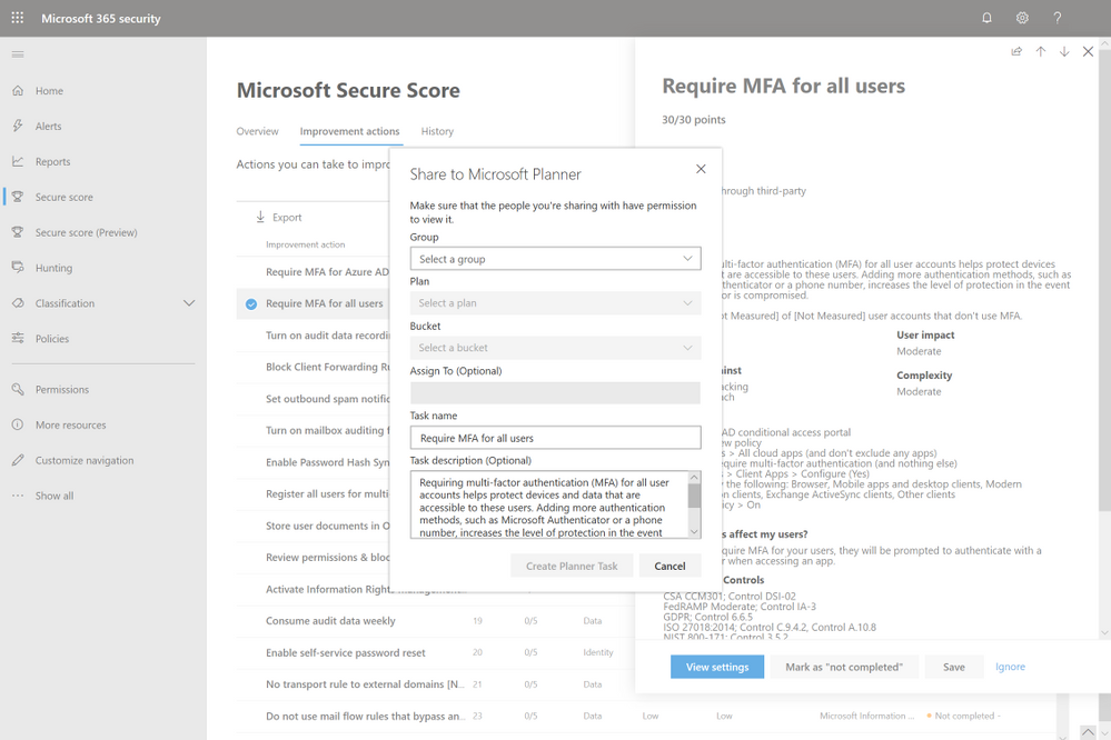 2019 - Microsoft 365 Security Center - Collaboration - Blog - Vibranium - Image 06 - Planner Clicked.png