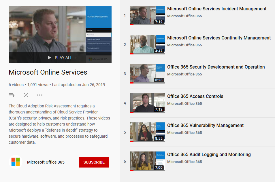 Introducing new videos on security and risk fundamentals of the Microsoft cloud environment