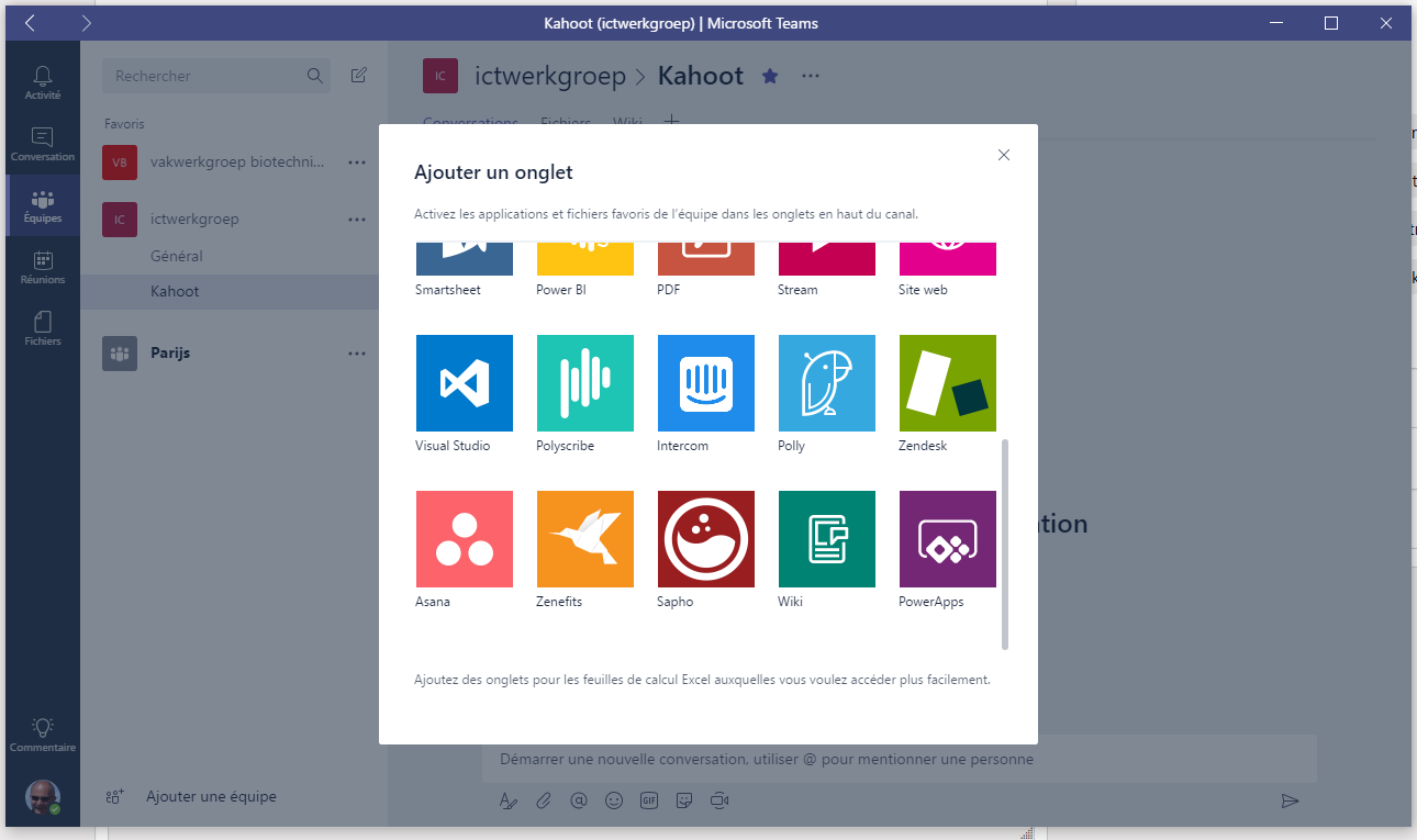 cannot add Kahoot in a Micrsoft teams channel - Microsoft Tech
