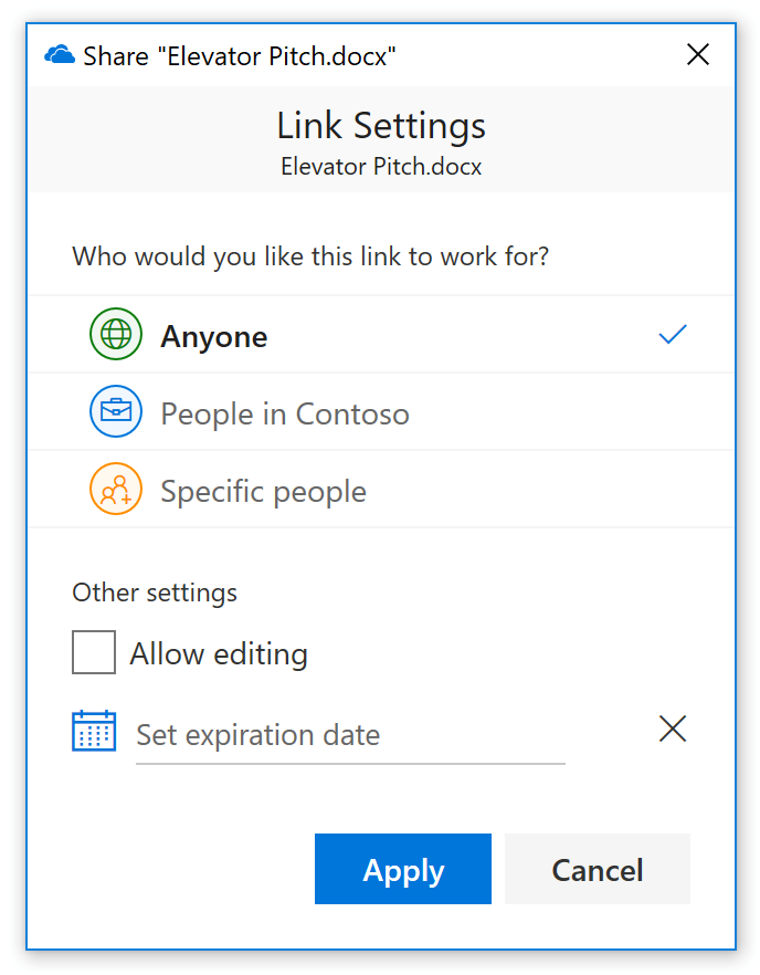 Only People In Organization Users Who Open The Link Must Sign In Or Be Signed In To A Non Guest Account In Your Organization It Behaves Like Email With