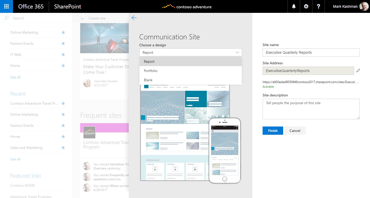 Reach your audience via SharePoint communication sites in Office 365 ...