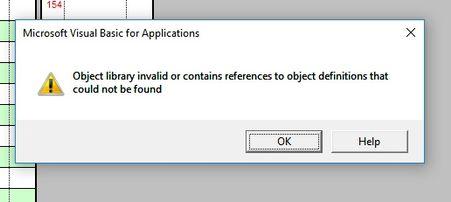 VBA Object Library invalid - Microsoft Tech Community - 71594