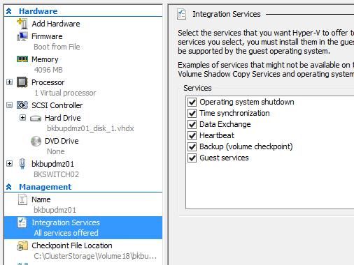 Hyper-V guest Backup in VSS - Microsoft Tech Community - 73646