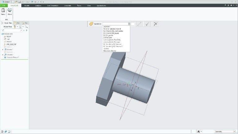 Figure 3 HaloCAD addin into PTC Creo