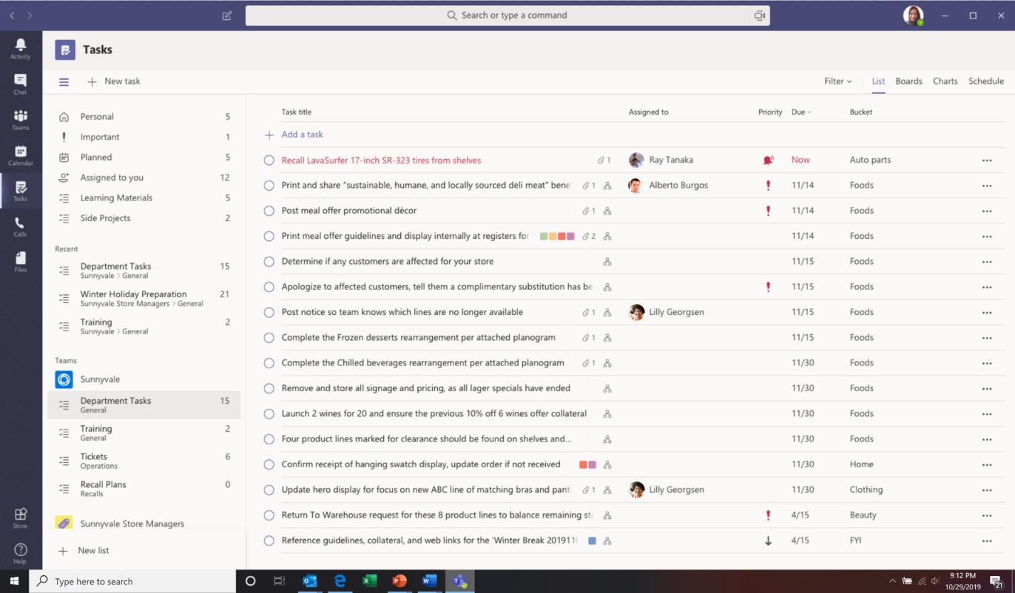Announcing Tasks in Teams, a coherent task management experience in Teams.
