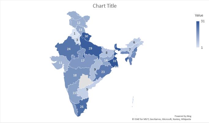 Map Chart Regions Not Displaying Properly Microsoft Tech - Mapchart