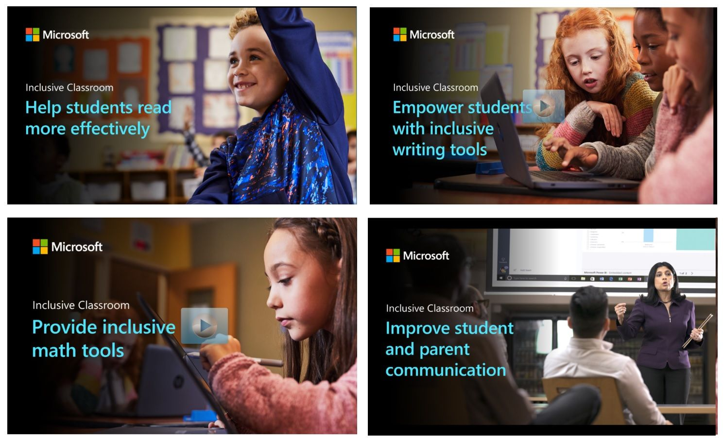 New Microsoft Learning Tools teacher training resources for reading, writing, math and communication