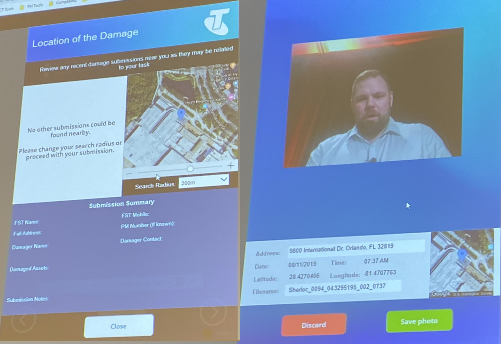 Integrated location services and photos help for documentation