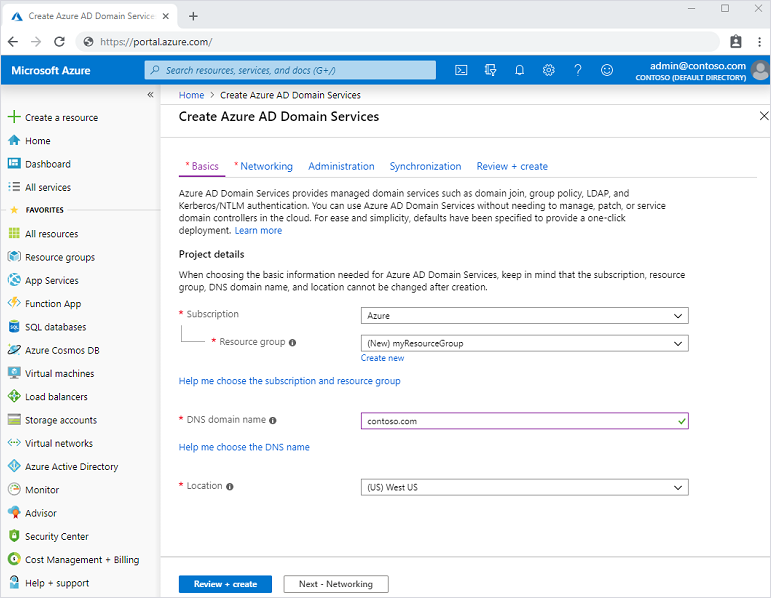 The new Azure AD Domain Services creation experience..png