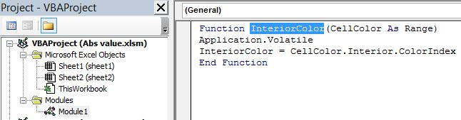 Formula or function for IF statement based on cell color - Microsoft