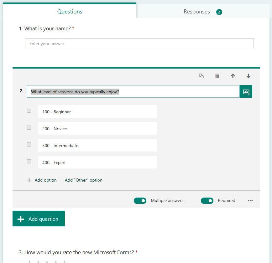 microsoft forms preview for office 365 business tenants first