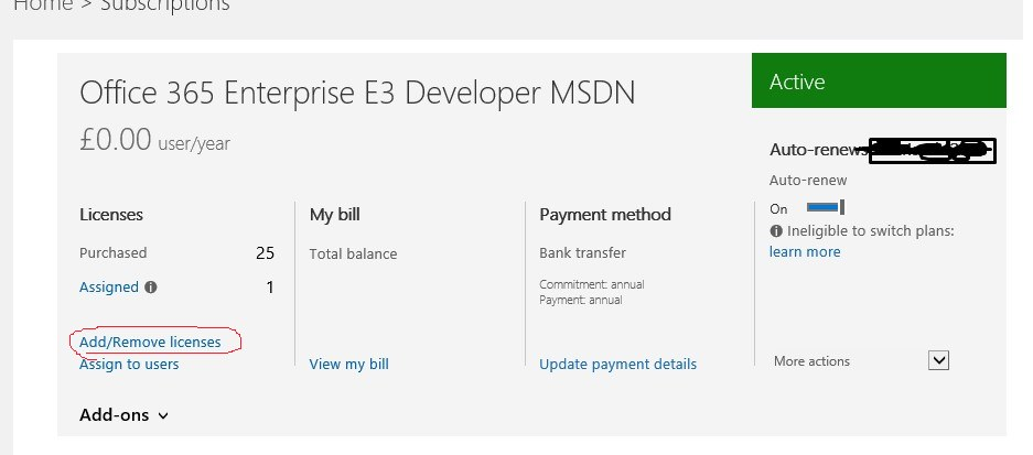 MSDN Dev subscriptions now give 25 O365 licenses ...