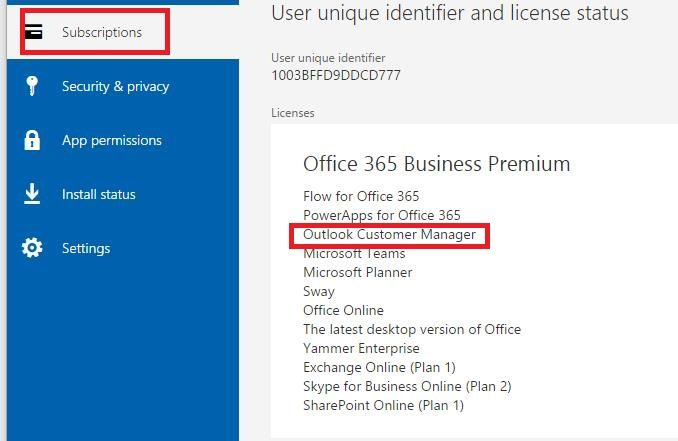 Ocm add in not available for office 365 business premium microsoft please let the user encounter the issue go to httpsportalofficeaccountsubscriptions subscriptions check whether heshe have the outlook publicscrutiny Images