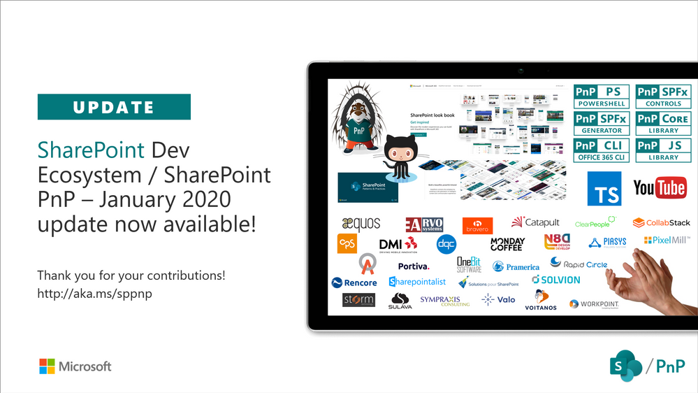SharePoint Development Community (PnP) – January 2020 update
