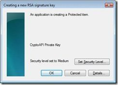 What is a strong key protection in Windows?