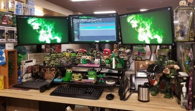 As you can see by how he adorns his desk, Scott Christensen is one 'credible Hulk' surrounded by all sorts of strong, green inspiration.