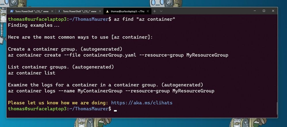 Azure CLI Tip - Use AI to find az commands