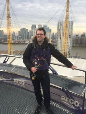 Tom on top of the O2 Dome