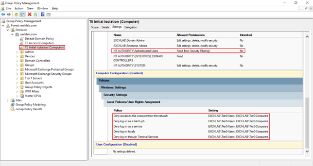 Initially Isolate Tier 0 Assets with Group Policy to Start Administrative Tiering