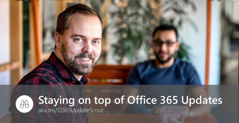 Staying on top of Office 365 Updates