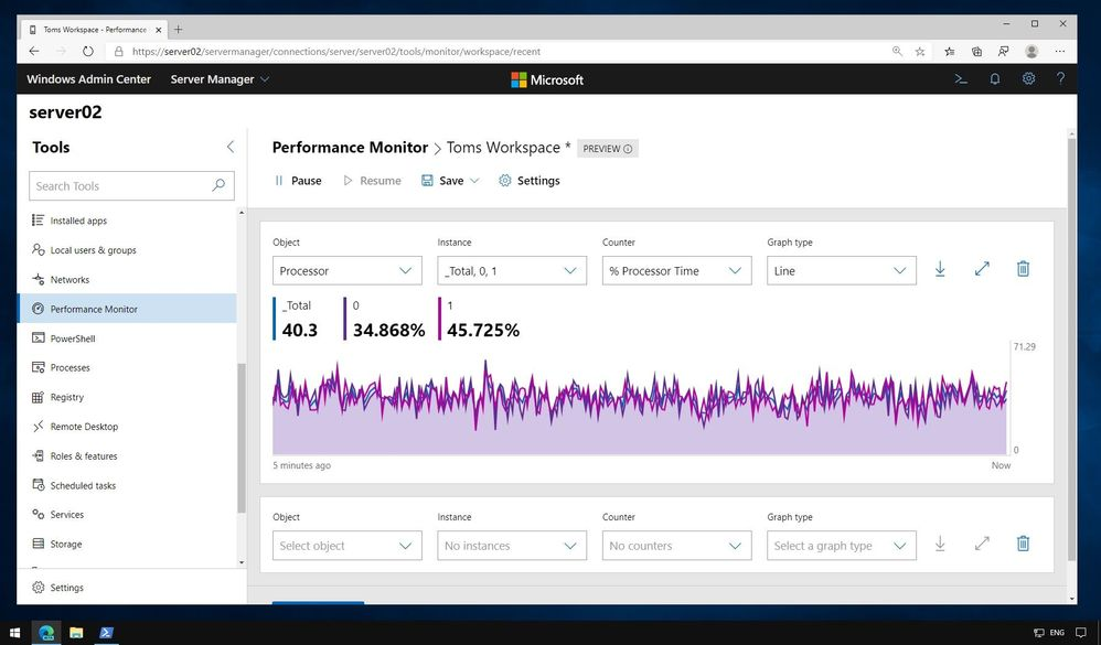 Windows Admin Center Performance Monitor