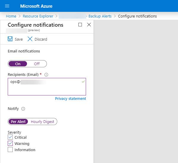 Configure Notifications in the Portal