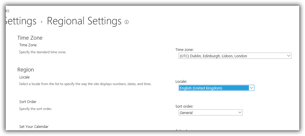 Time Zone Settings for O365 Groups SharePoint-Site - Microsoft Tech