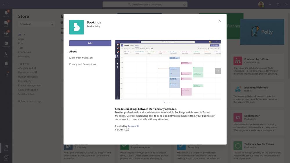 Get the Bookings App in Microsoft Teams