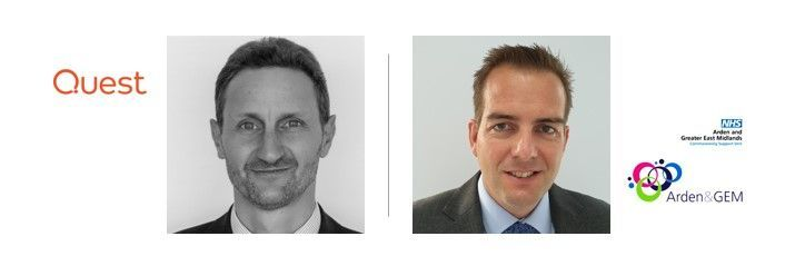 Left-to-right: Colin Truran (Principal strategist at Quest Software) and Chris Reynolds (Head of Systems and Applications Development Services at Arden and GEM Commissioning Support Unit) [The Intrazone guests]