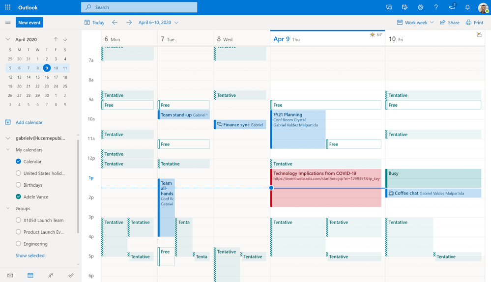 Image 1 - See your schedule next to or combined with the calendar from someone in your organization.png