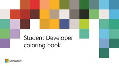 Download the Student Developer coloring book!
