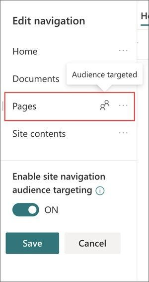 When enabled, audience targeting will apply to all menus on the site including hub and footer menus.