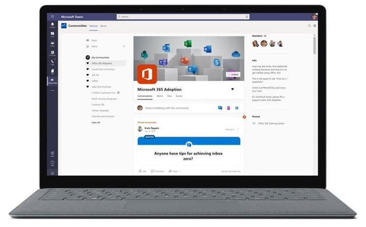 The new Yammer experience is available in the Yammer app for Microsoft Teams.