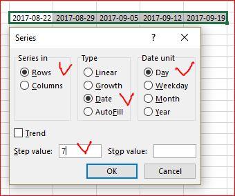 Excel Date Autofill - Microsoft Tech Community - 49088