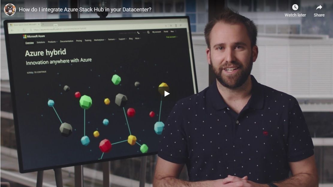 One Ops Question: How do I integrate Azure Stack Hub in your Datacenter?