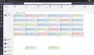 Office manager's view of a published schedule