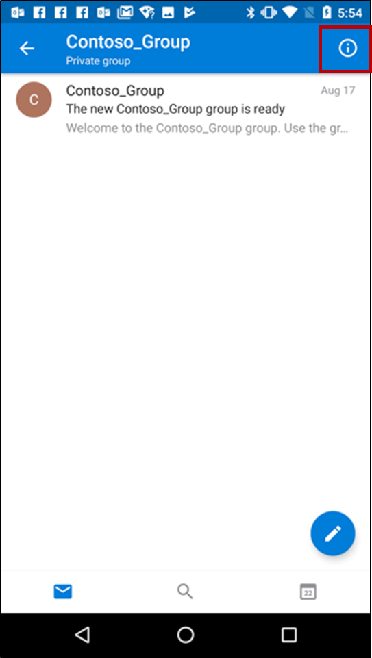 Outlook on Android phone