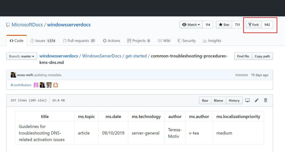 Fork a GitHub repository