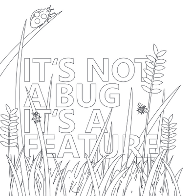 It's not a bug, it's a feature - coloring page perview