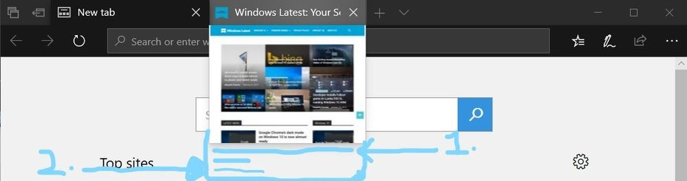 Suggested Feature: 1. Shows the full website description on tab given by the developer. 2. Shows the website name.