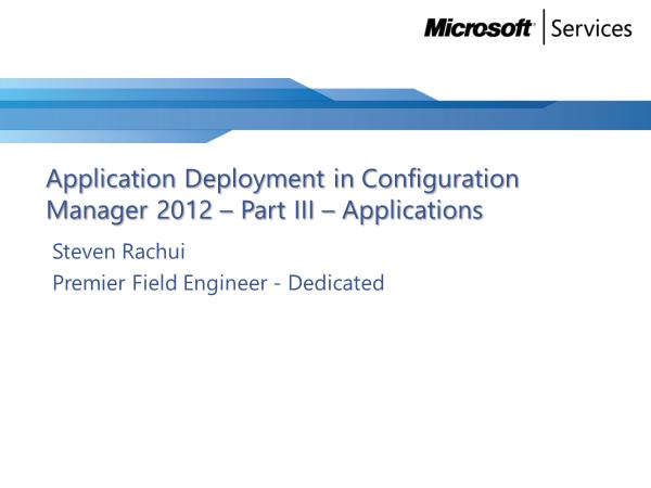 Video Tutorial: Applications - Application Deployment Part 3