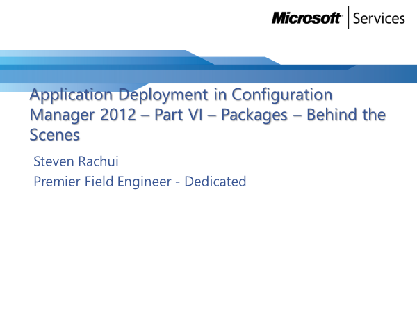 Video Tutorial: Packages behind the scenes - Application Deployment Part 6