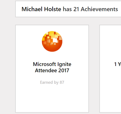 The badge can be seen under your achievements on your Tech Community profile page.